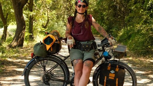 Justine Virideau, voyage à vélo, femme